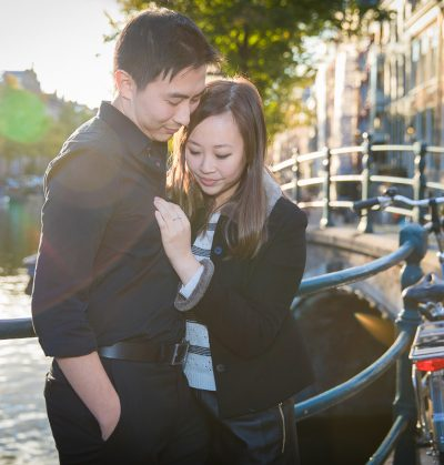 n location couple portrait photoshoot Loveshoot fotosessie Amsterdam wedding bruiloft secret proposal