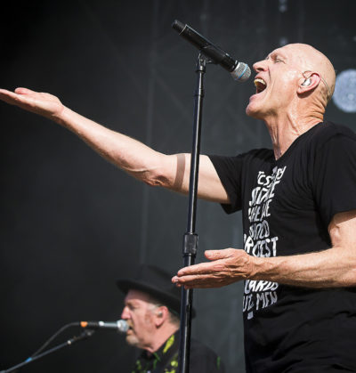 Nyon, Switzerland - 19 July 2017: Concert of Australian rock band Midnight Oil at Paleo Festival