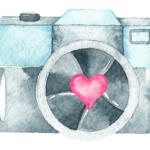 camera with heart