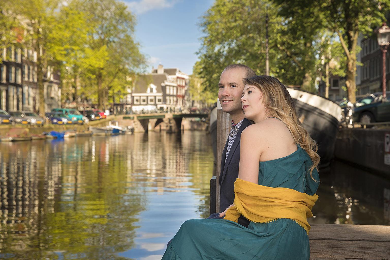 n location couple portrait photoshoot Loveshoot fotosessie Amsterdam wedding bruiloft